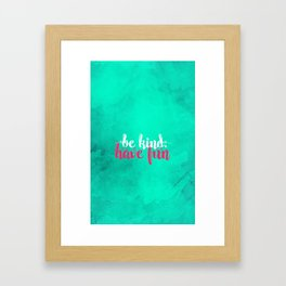 Before Or After You're Thirty Framed Art Print