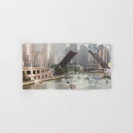 Chicago River, Bridges Up Hand & Bath Towel