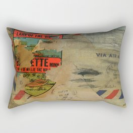 Via Air Mail Rectangular Pillow