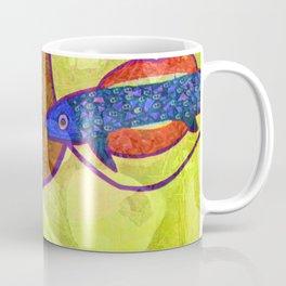 Marine Encounters [Yellow and Orange Version with Seashells] Coffee Mug