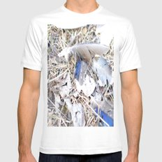 Feathers MEDIUM Mens Fitted Tee White
