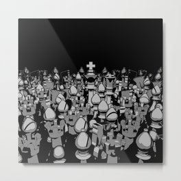 The Chess Crowd Metal Print