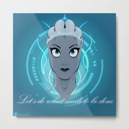 Liara T'soni - The Queen Bee of Bioware (Revised) Metal Print