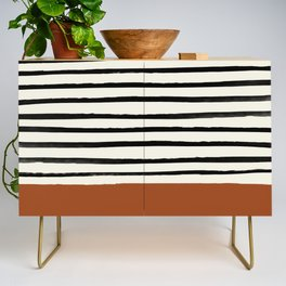 Burnt Orange x Stripes Credenza