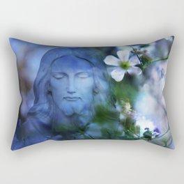Jesus Christ In The Garden By Annie Zeno Rectangular Pillow