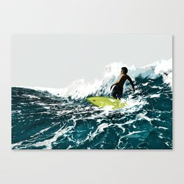 On the Wave Canvas Print