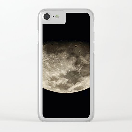 Moon Black 4 Clear iPhone Case