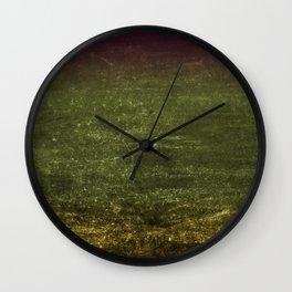 Gold, Emerald & Magenta Ombre Canvas Wall Clock