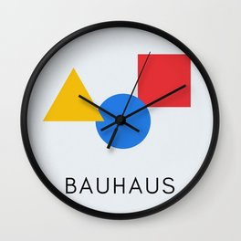 Bauhaus - Geometric Art Wall Clock