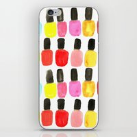 nail polish iPhone & iPod Skins featuring Nail Polish by Bouffants and Broken Hearts