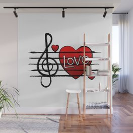 Music Love Wall Mural