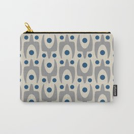 Mid Century Modern Abstract Pattern 149 Gray and Blue Carry-All Pouch