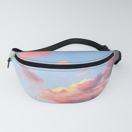 Pink Skies at Night, Vertical Layout Fanny Pack