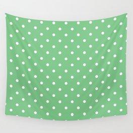 Sage Polka Dots Wall Tapestry