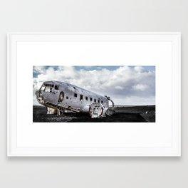 Abandoned DC plane on Sólheimasandur, Iceland Framed Art Print