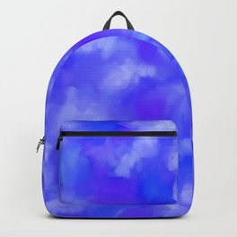 Abstract Clouds - Rich Royal Blue Backpack