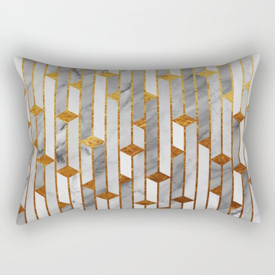 Marble skyscrapers Rectangular Pillow