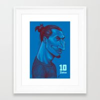 zlatan Framed Art Prints featuring Zlatan 10 by SketcherOnline