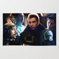 blade runner Area & Throw Rugs featuring Blade Runner by Saint Genesis