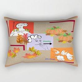 American Sign Language ASL Happy Thanksgiving Rectangular Pillow