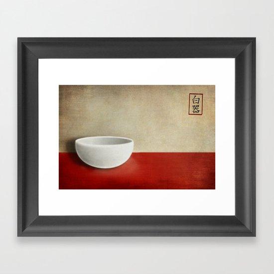 White bowl Framed Art Print