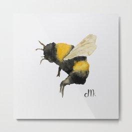 Dancing Bumblebees Metal Print
