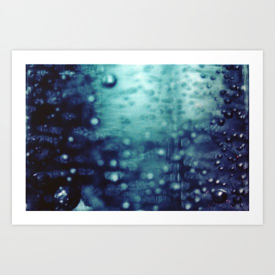 Bubbles Macro Art Print