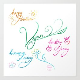 Vegan & happy lifestyle Art Print