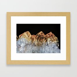 Fire and Ice Citrine crystals Framed Art Print