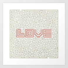 Love game Art Print