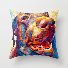 Labrador Retriever 5 Throw Pillow