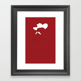 Colonel Silhouette (red) Framed Art Print