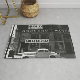 I Am An American By Dorothea Lange Rug