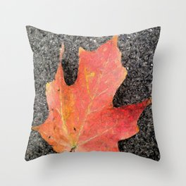 Water color of a sugar maple leaf Throw Pillow