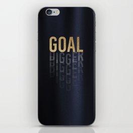 Goal Digger - Gold on Black iPhone Skin