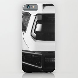 """TOY"" Tundra // Black and White Monster Truck Geared Out Big Wheels Matte Black Grille iPhone Case"