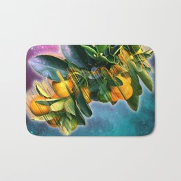Small fruit tree in outer space Bath Mat