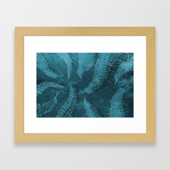 Ferns (light) abstract design Framed Art Print