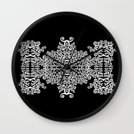 black and white vintage pattern II Wall Clock