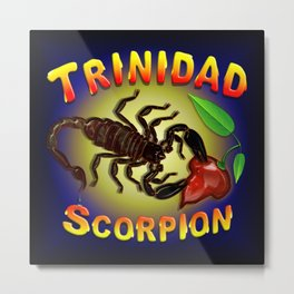 Trinidad Scorpion Black Metal Print