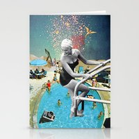 hippy Stationery Cards featuring Happy Hippy Hippo by Eugenia Loli