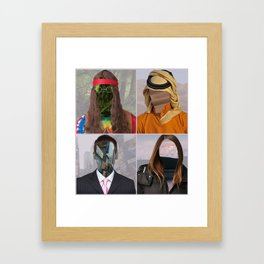 Different people, Different backgrounds. Framed Art Print
