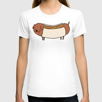 hot dog T-shirts featuring HOT DOG by Keasy