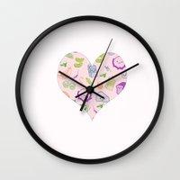 vegetarian Wall Clocks featuring vegetarian menu by Kristina Nuetzmann