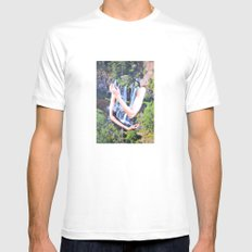 Cold Feelings White Mens Fitted Tee MEDIUM