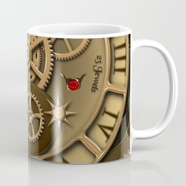 Steampunk clock gold Coffee Mug