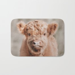 Scottish Highlander Portrait Art Print   Animal Photography   Scottish Highland Cow Baby Calf Bath Mat