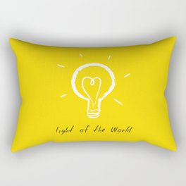 Light of the World - yellow Rectangular Pillow