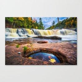 Mandio Falls - Porcupine Mountains Canvas Print
