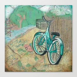 San Fransico Bicycle Revelry Canvas Print